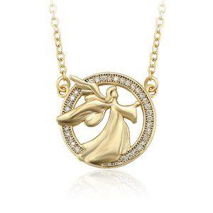 Beautiful Angel 18KGP CZ Necklace